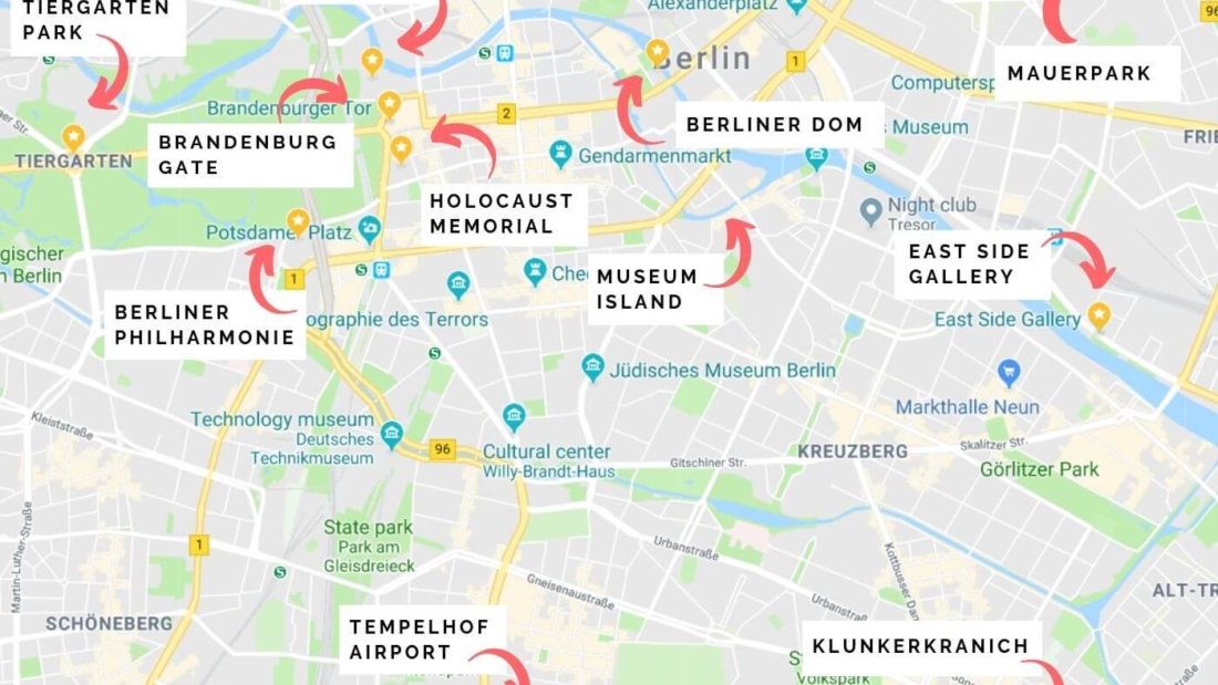 Berlin Attractions Map - 12 Unique Things to do in Berlin ...